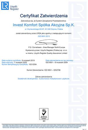 ISO:9001 Certyfikat